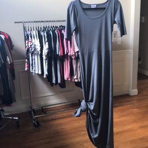 NWT LuLaRoe Ana Maxi Dress Grey Long size XS